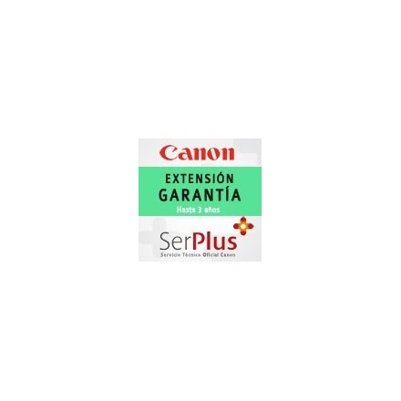Garantía Canon Serplus3 Verde