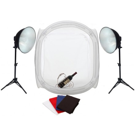 Fotima Mini Estudio 60x60cm + 2x45W