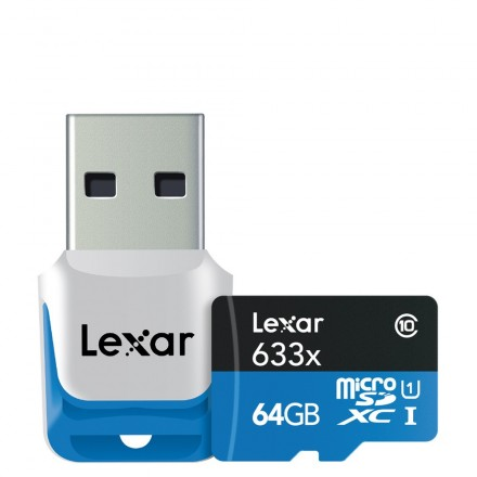 Lexar Micro SD 64GB Clase 10 - 633x