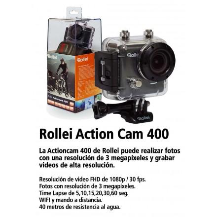 Rollei AC 400 WiFi + Jivo Kit Accesorios Cámara Acción