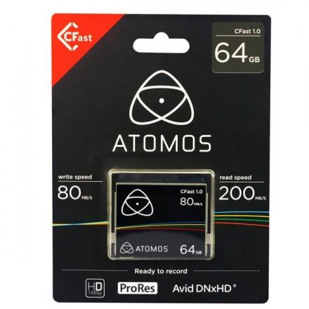 Atomos Cfast 1.0 64GB Tarjeta para Ninja Star