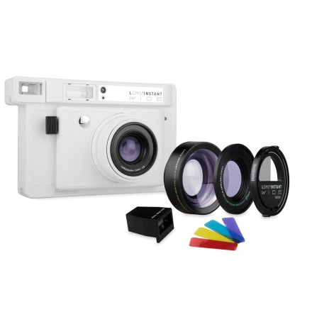 Lomography Instant Wide White + 3 lentes