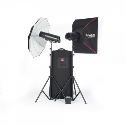 Bowens Kit 2 XMS 500 + Accesorios