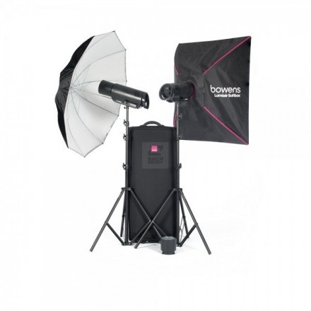 Bowens Kit 2 XMS 750 + Accesorios