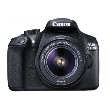 Canon EOS-1300D + 18/55 F-3.5-5.6 IS II + Batería Extra