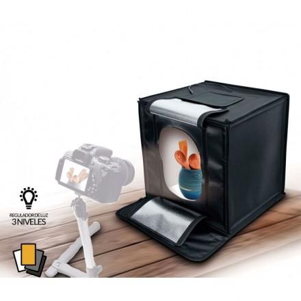 Fotima Mini Estudio Profesional 50X50 Con Iluminación LED