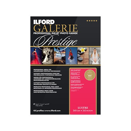 "Ilford Galerie Prestige 5x7"" (127x175)m) Lustre 260 GSM - 265 Micron"