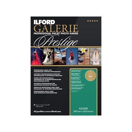 Ilford Galerie Prestige A4 (210x297mm) Gloss 260 GSM - 265 Micron