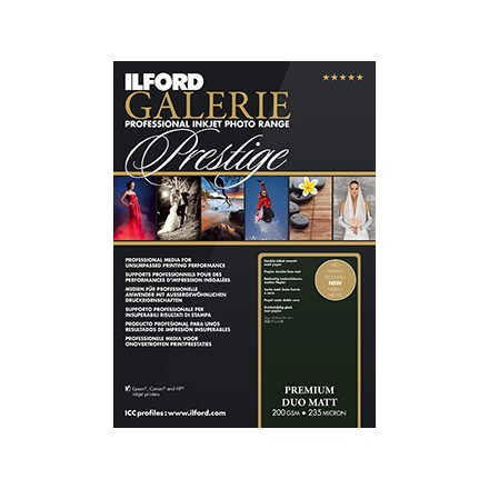Ilford Galerie Prestige A4 (210x297) Premium Matt Duo 200 GSM - 235 Micron