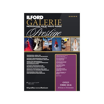 Ilford Galerie Prestige A3+ (329x483mm) Gold Fibre Silk 310 GSM - 315 Micron