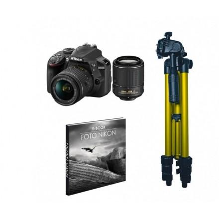 Nikon D-3400 + AF-P 18/55 + 55/200 VR