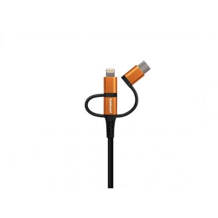 Hähnel Flexx - Tough + Strong 2 metros (Cable cargador iPhone)