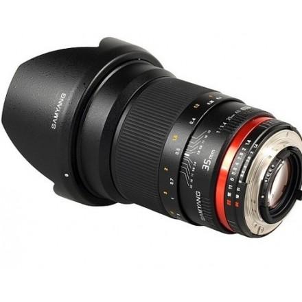 Samyang DSLR 35mm 1.4 FULL FRAME APS-C micro 4/3 (Nikon AE)