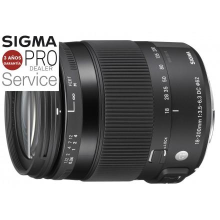 Sigma 18/200 F-3.5-6.3 DC OS Macro Contemporary