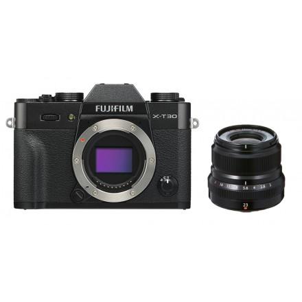 Fuji X-T30 + XF 23mm F-2 R WR (Negra)