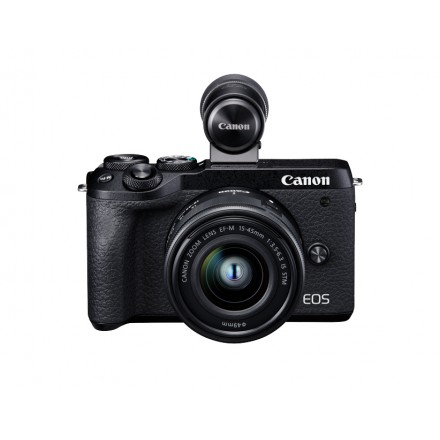 Canon EOS-M6 Mark II + EF-M 15/45 F-3.5-6.3 IS STM + Visor EVF-DC2