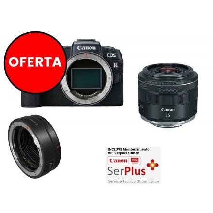 Canon EOS-RP (Cuerpo) + Adaptador de montura EF-EOS R