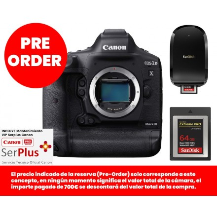 Canon EOS-1DX Mark III (Cuerpo)