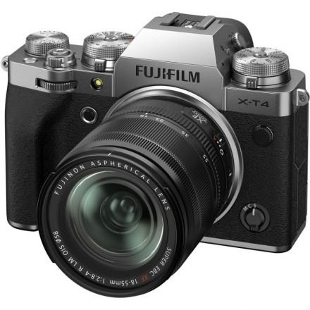 Fujifilm X-T4 + XF 18/55 F-2.8-4 R LM OIS Plata