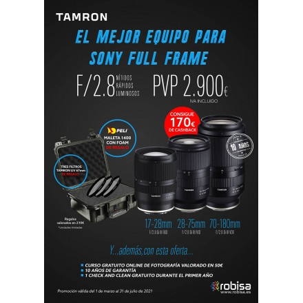 Tamron Kit 17/28 + 28/75 + 70/180
