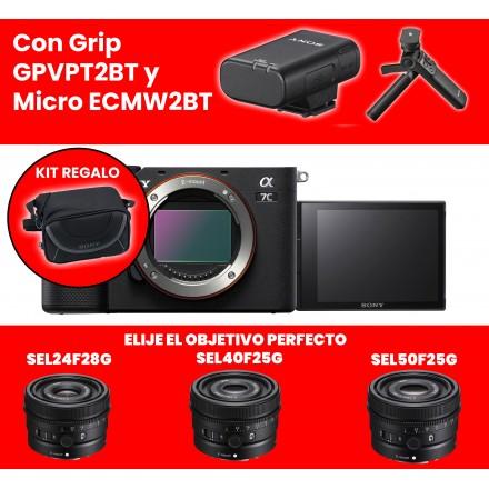 Sony Alpha 7C (Cuerpo) (ILCE-7C) + Grip GPVPT2BT + Elije tu objetivo