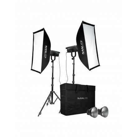 Nanlite Kit 2 Foco Led FS-150 185W 5600K