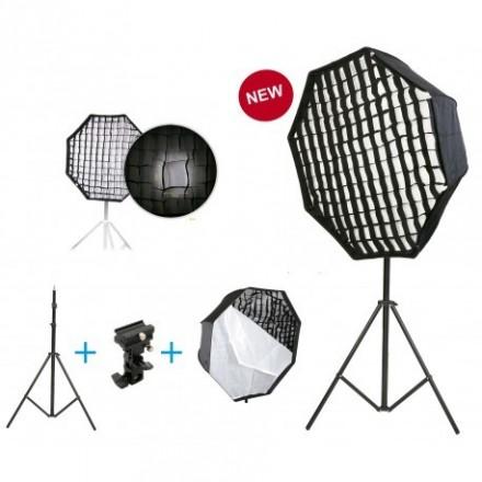 Fotima Kit Sofbox Octo 80cm + Rejilla + Soporte + Pie