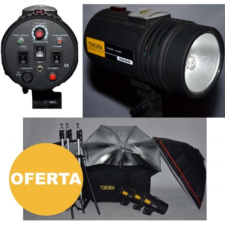 2- Tokura Kit 3 Flashes Estudio 5000
