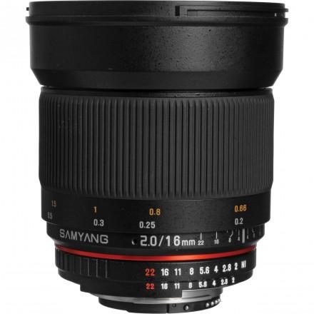 Samyang DSLR 16mm F-2 APS-C Micro 4/3 Nikon AE