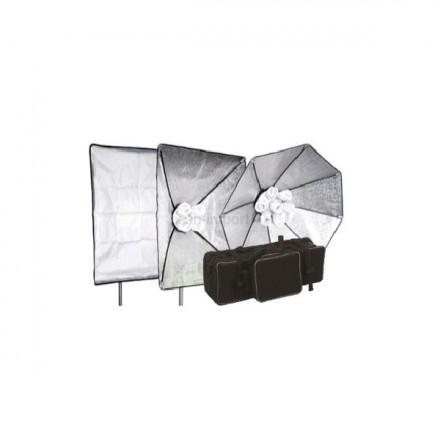 Fomex Kit 2 Focos Fluoespiral 7X32 W + Caja 60x60 cm + Bolso