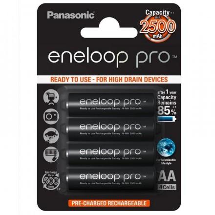 Panasonic Eneloop Pro AA 4 Pilas 2500mAh