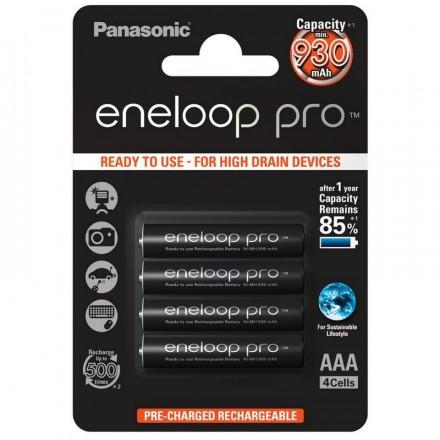 Panasonic Eneloop Pro AAA 4 Pilas 930mAh